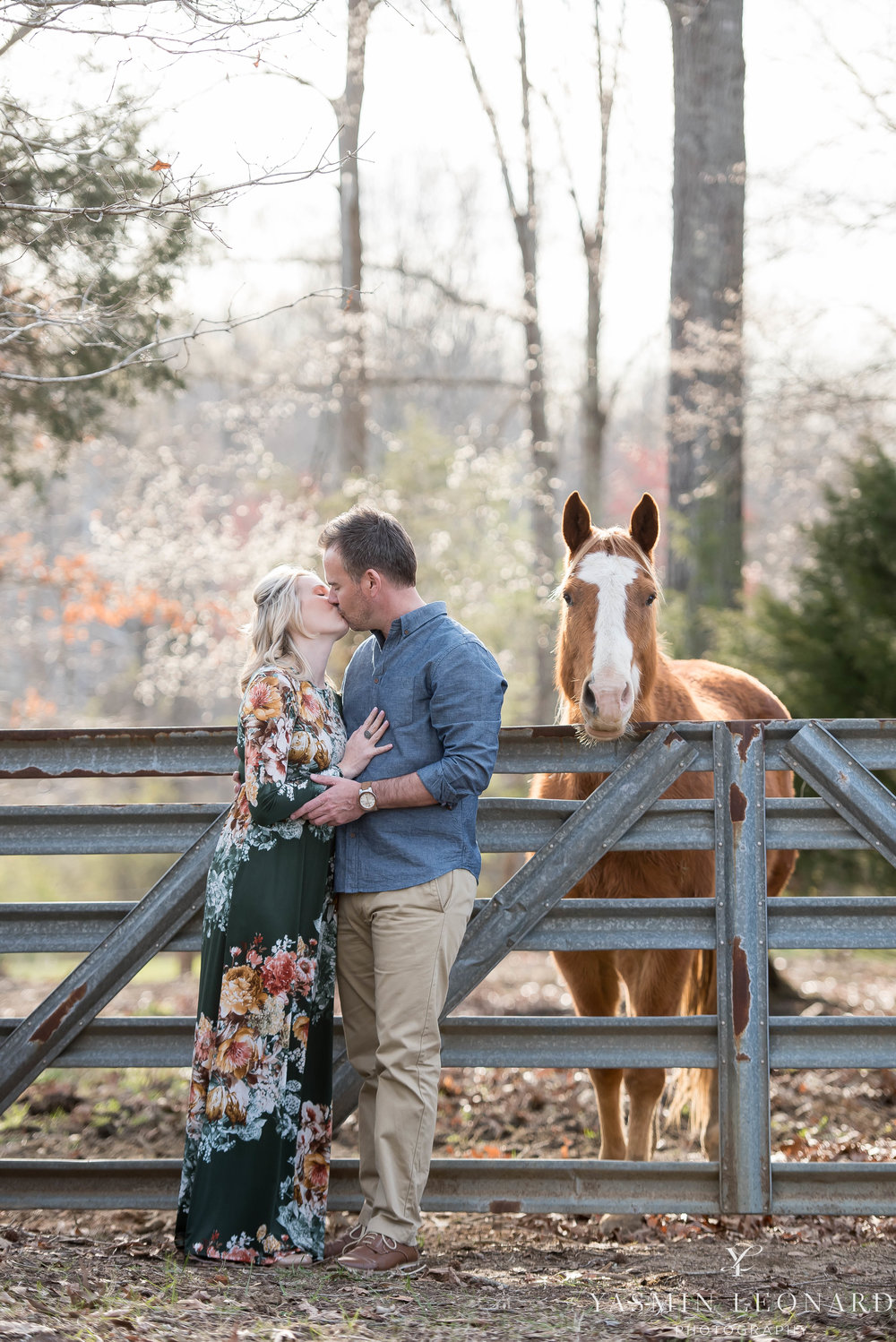 High Point Wedding Photographer - NC Wedding Photographer - Yasmin Leonard Photography - Engagement Poses - Engagement Ideas - Outdoor Engagement Session-20.jpg