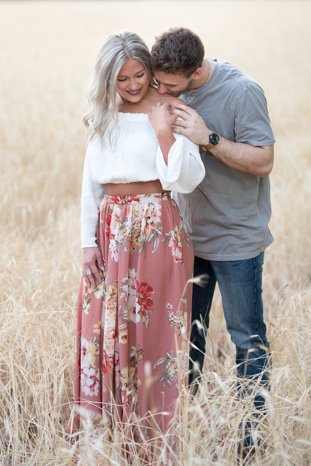 Couple Session - Fitness Couples - Tall Grass Field - Engagement Portrait Ideas - Engagement Session Ideas - Couple Session Ideas - Spring Picture Ideas-1.jpg