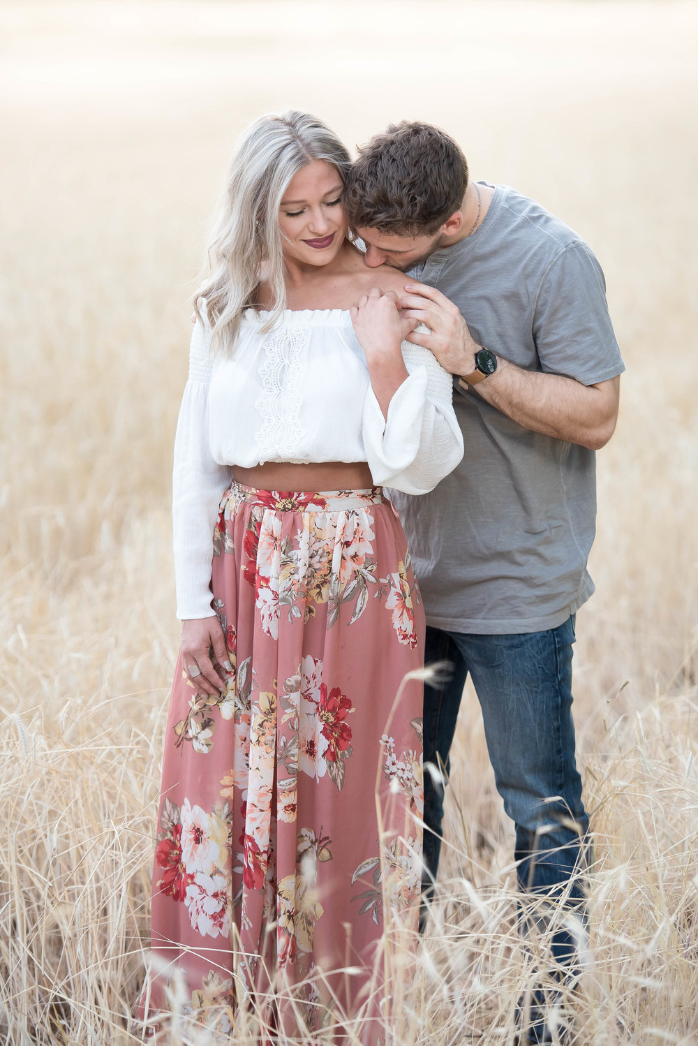 Couple Session - Fitness Couples - Tall Grass Field - Engagement Portrait Ideas - Engagement Session Ideas - Couple Session Ideas - Spring Picture Ideas-5.jpg