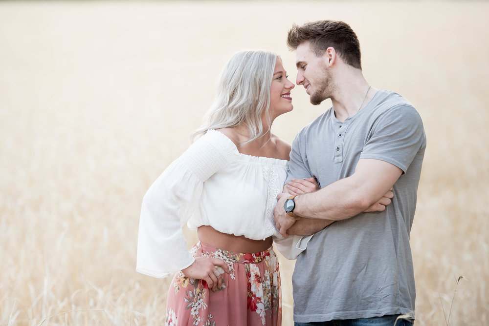 Couple Session - Fitness Couples - Tall Grass Field - Engagement Portrait Ideas - Engagement Session Ideas - Couple Session Ideas - Spring Picture Ideas-10.jpg