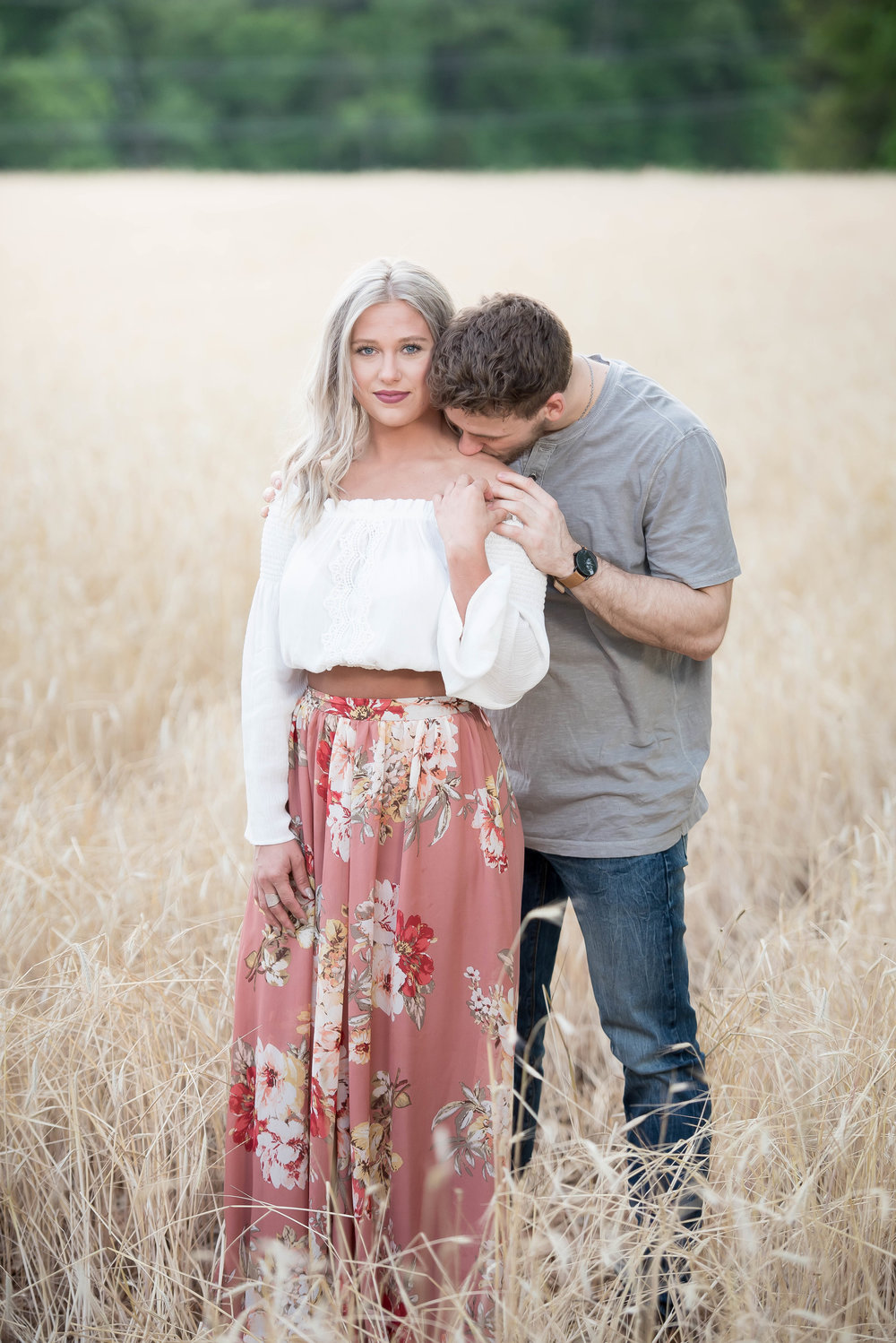 Couple Session - Fitness Couples - Tall Grass Field - Engagement Portrait Ideas - Engagement Session Ideas - Couple Session Ideas - Spring Picture Ideas-15.jpg