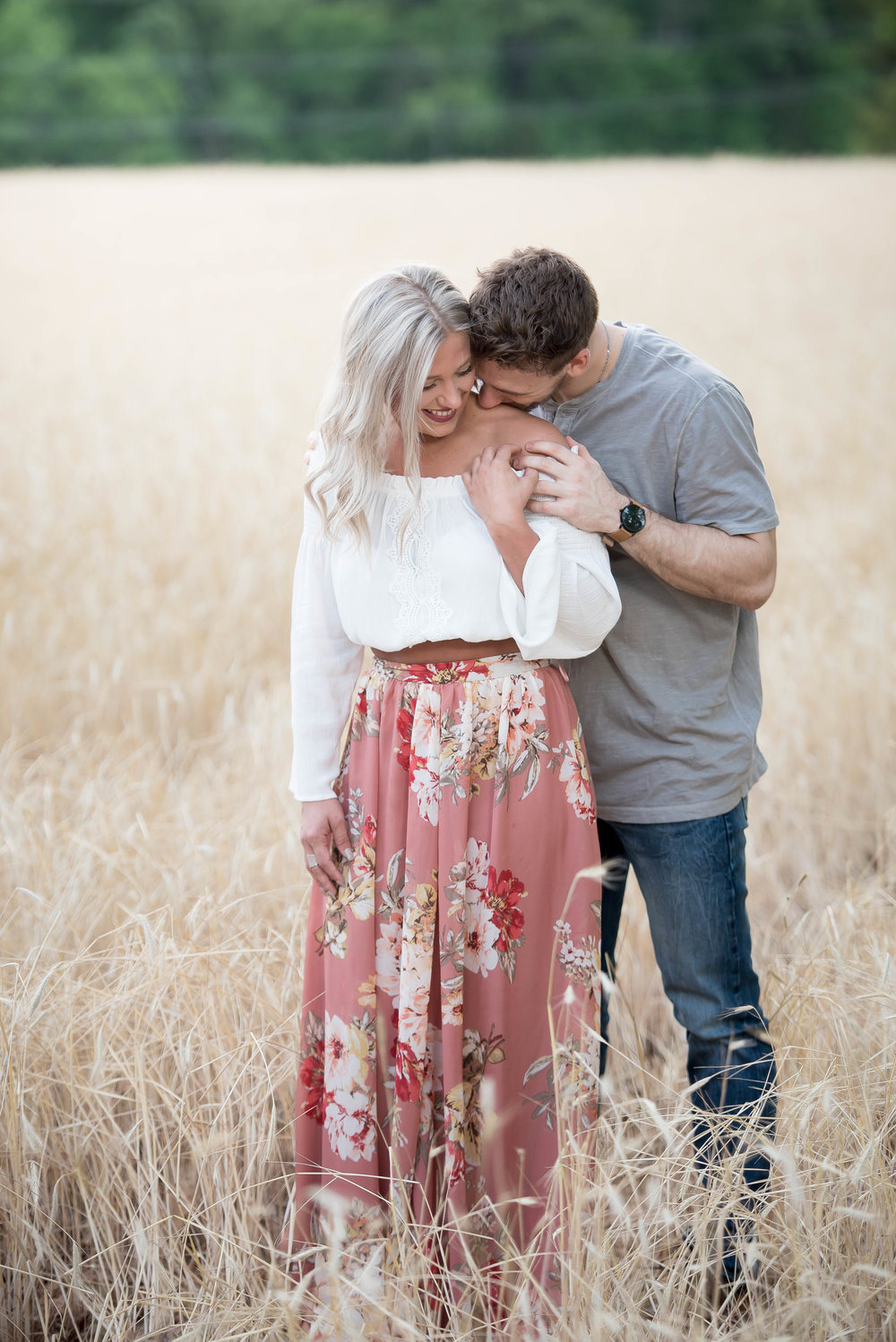 Couple Session - Fitness Couples - Tall Grass Field - Engagement Portrait Ideas - Engagement Session Ideas - Couple Session Ideas - Spring Picture Ideas-17.jpg