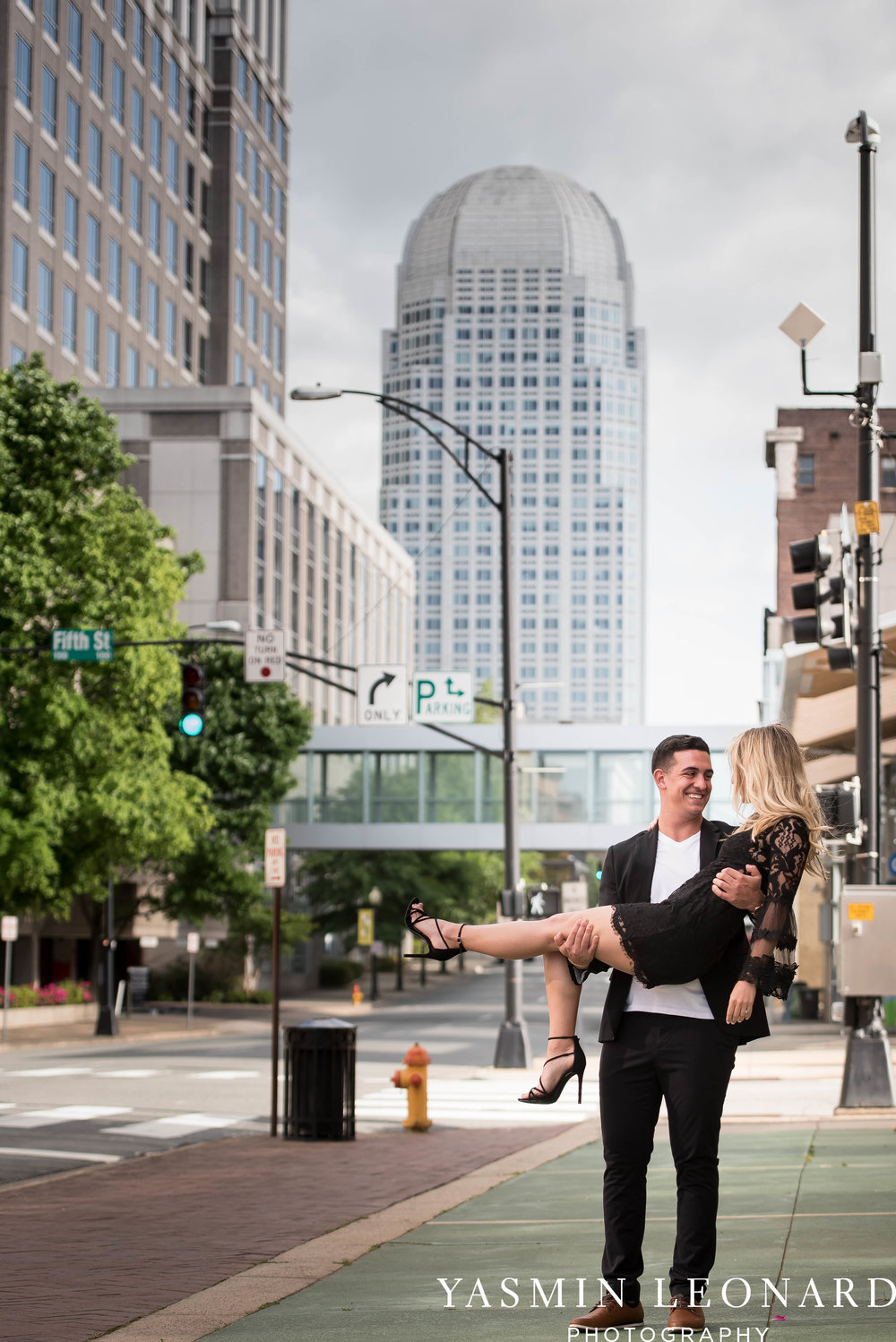 Downtown Winston Salem Engagement Session - NC Engaged - NC Weddings - Winston Salem Weddings - Yasmin Leonard Photography-7.jpg
