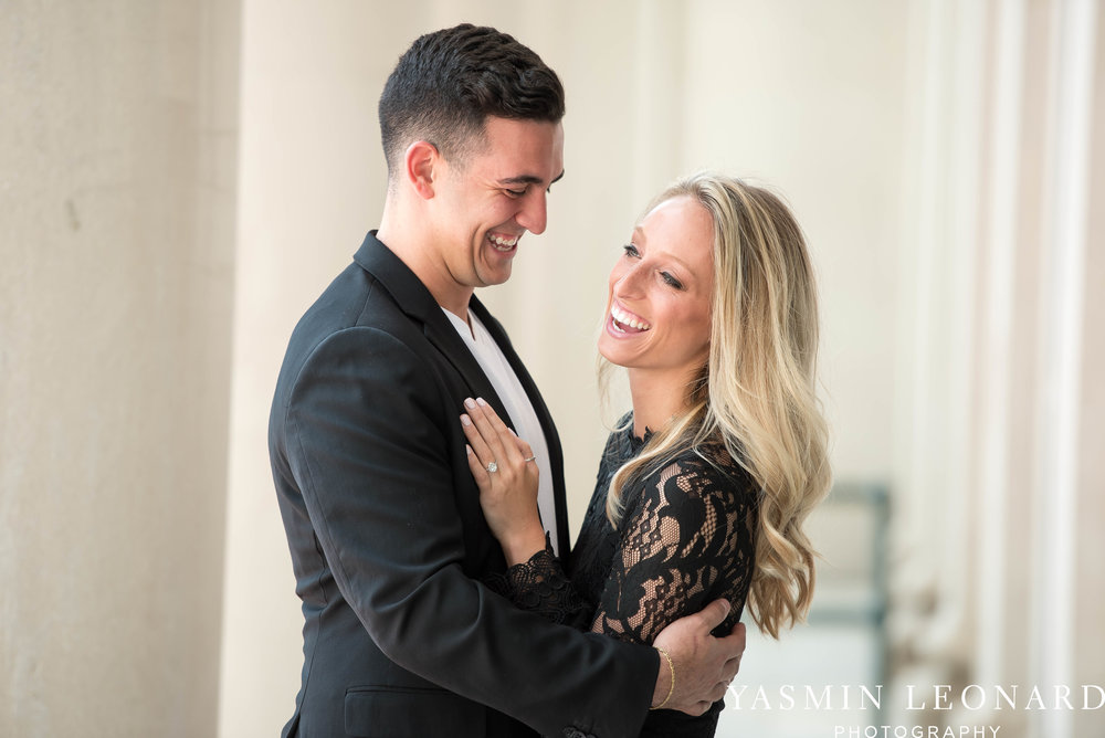 Downtown Winston Salem Engagement Session - NC Engaged - NC Weddings - Winston Salem Weddings - Yasmin Leonard Photography-18.jpg