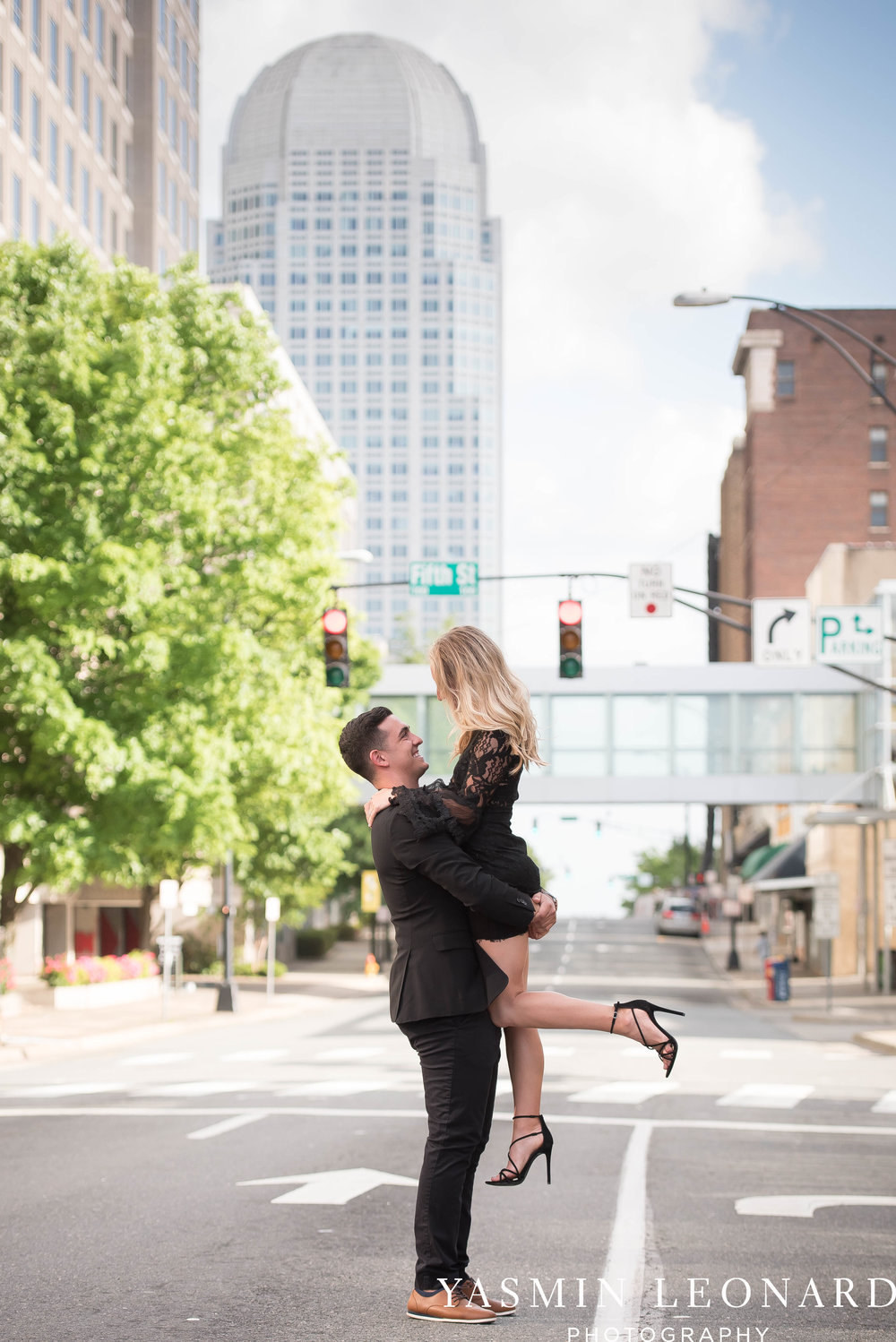 Downtown Winston Salem Engagement Session - NC Engaged - NC Weddings - Winston Salem Weddings - Yasmin Leonard Photography-6.jpg