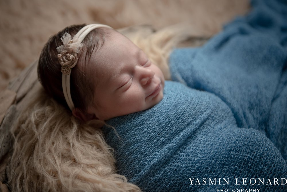 Newborn Photographers in High Point - Newborn Baby Smiling - High Point Newborn Photographer - NC Photographer - Yasmin Leonard Photography-1.jpg