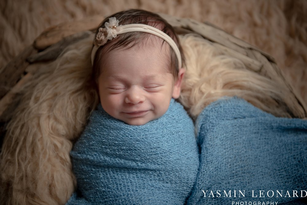 Newborn Photographers in High Point - Newborn Baby Smiling - High Point Newborn Photographer - NC Photographer - Yasmin Leonard Photography-2.jpg