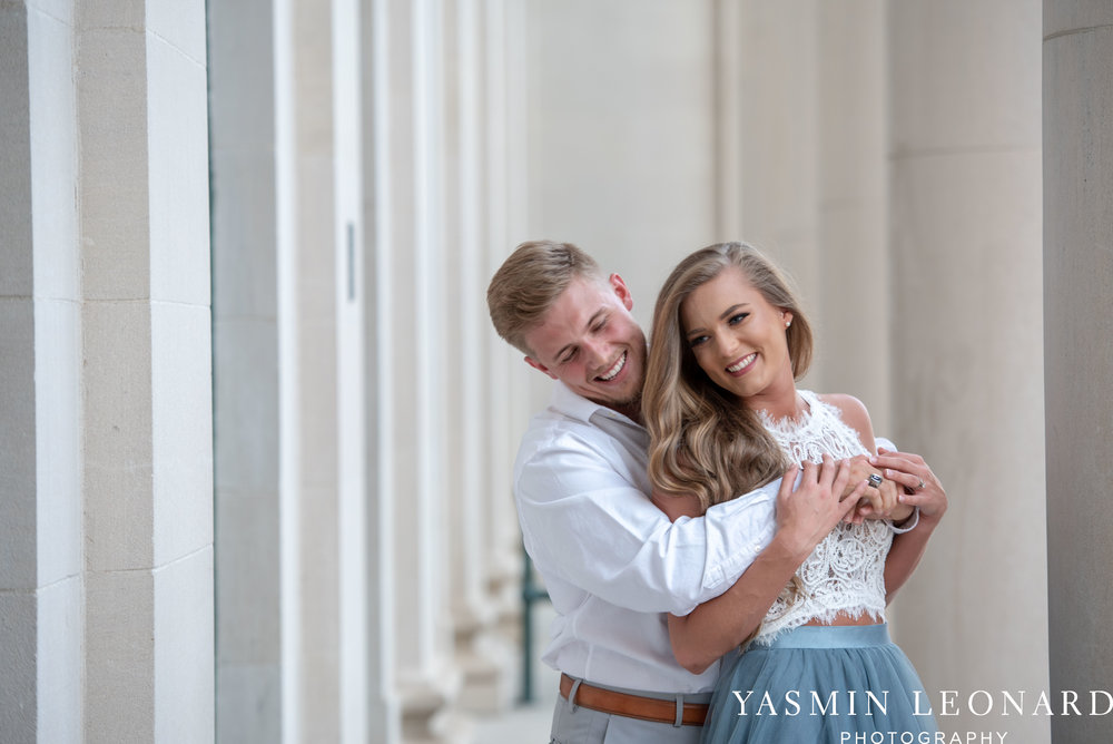 Downtown Winston Salem - Winston Salem Engagement Session - Winston Salem NC - Engagement Session at Bailey Park - The Millennium Center - NC Wedding Venues - How to Engagement Session - Yasmin Leonard Photography-14.jpg