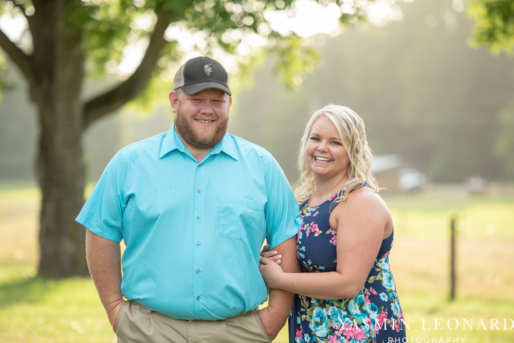 NC Engaged - Wallburg Engagement - Country Engagement Session - Barn Engagement Session - Outdoor Engagement Session - Farmer Engagement Session - Engagement Session with Overalls and Boots-1.jpg