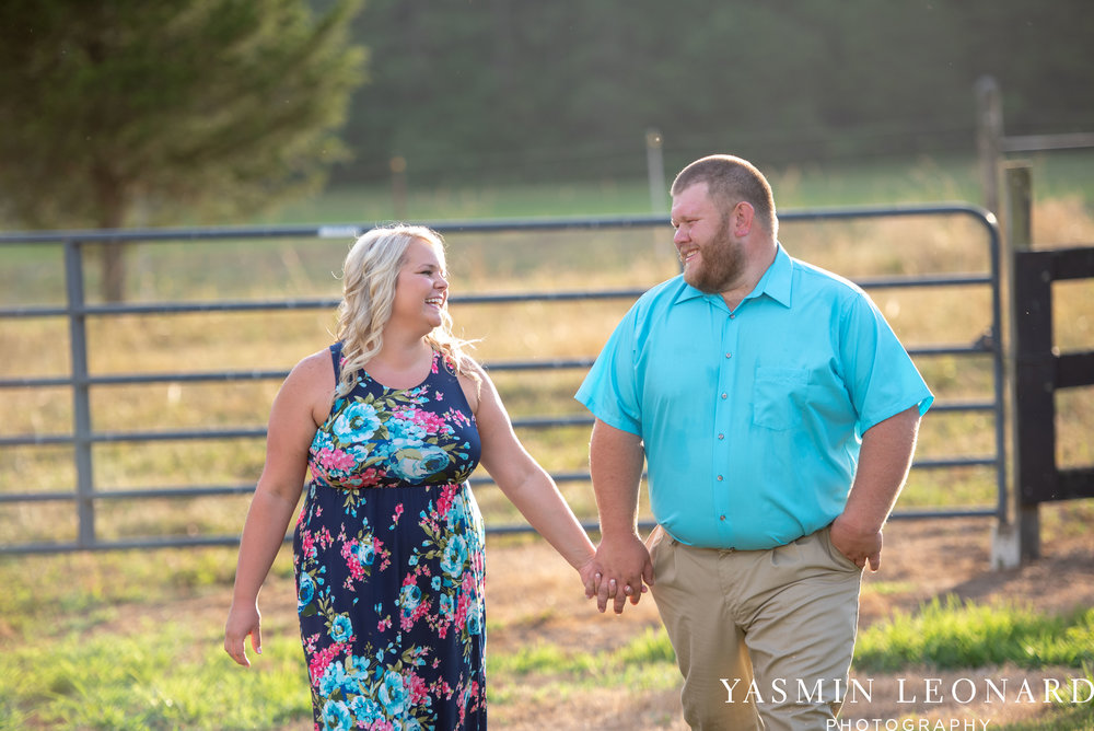 NC Engaged - Wallburg Engagement - Country Engagement Session - Barn Engagement Session - Outdoor Engagement Session - Farmer Engagement Session - Engagement Session with Overalls and Boots-3.jpg