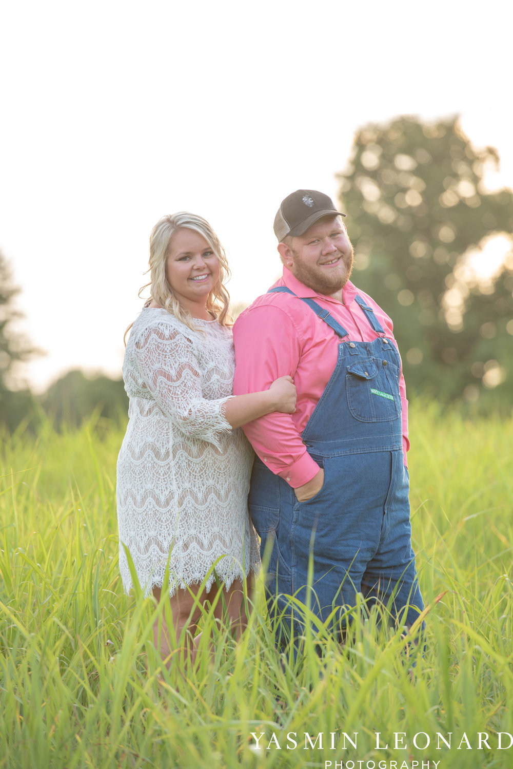 NC Engaged - Wallburg Engagement - Country Engagement Session - Barn Engagement Session - Outdoor Engagement Session - Farmer Engagement Session - Engagement Session with Overalls and Boots-5.jpg