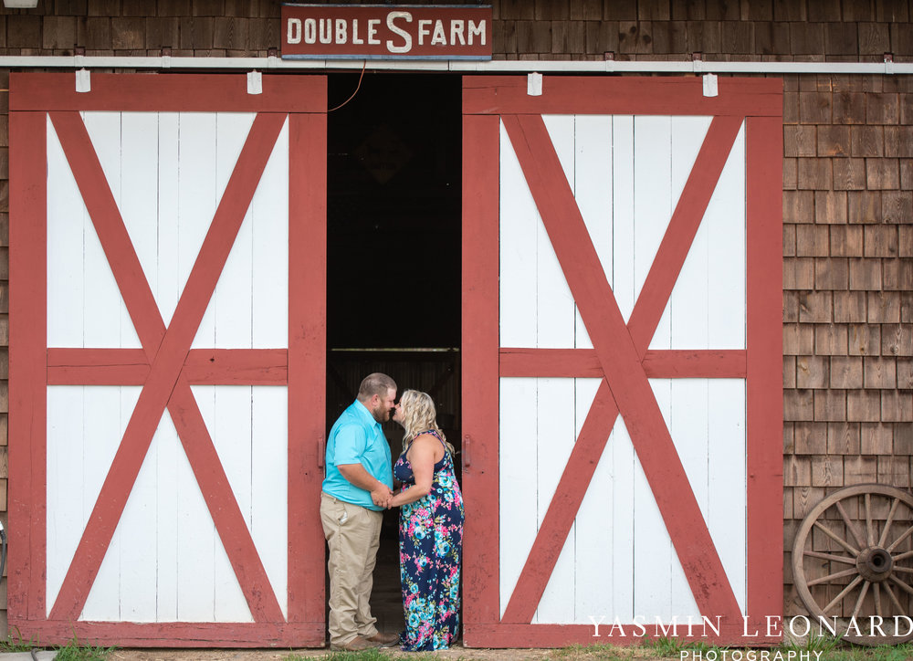 NC Engaged - Wallburg Engagement - Country Engagement Session - Barn Engagement Session - Outdoor Engagement Session - Farmer Engagement Session - Engagement Session with Overalls and Boots-14.jpg