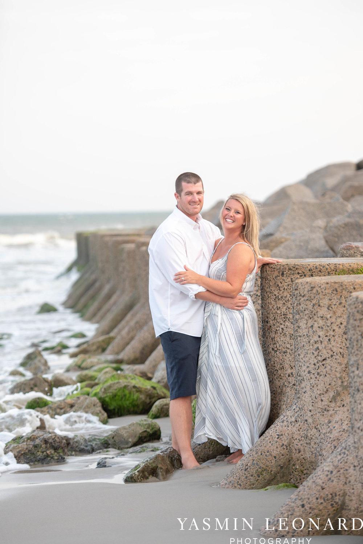 Carolina Beach Engagement Session - Kure Beach - Fort Fisher Engagement Session - Beach Engagement Session - Wrightsville Beach Weddings - Weddings on the Beach - Wilmington NC - Yasmin Leonard Photography-9.jpg