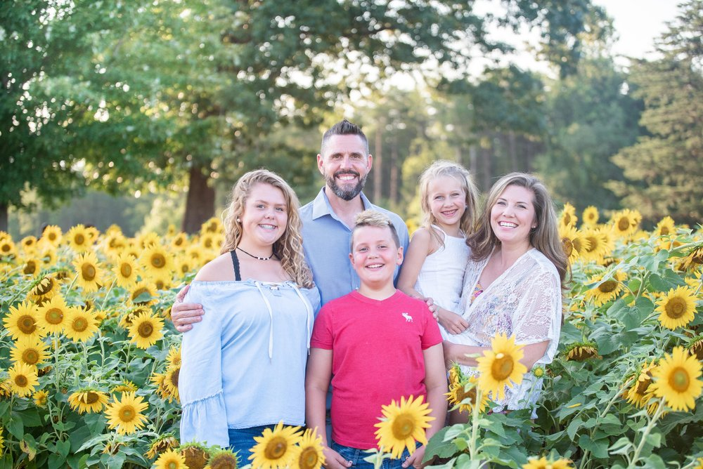 Dogwood Farm - Sunflower Field Photography Session - Sunflower Family Portraits - Fall Family Portraits - Summer Family Portraits - NC Photographer - NC Wedding Photographer - High Point Wedding Photographer -5.jpg