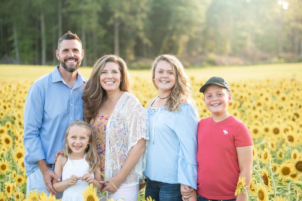 Dogwood Farm - Sunflower Field Photography Session - Sunflower Family Portraits - Fall Family Portraits - Summer Family Portraits - NC Photographer - NC Wedding Photographer - High Point Wedding Photographer -11.jpg