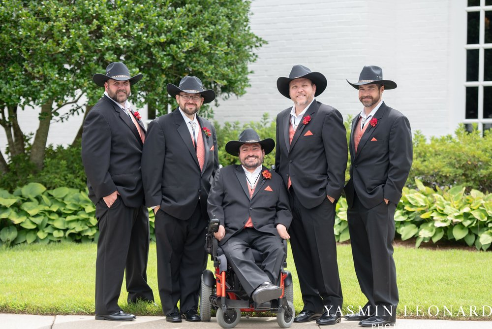 High Point Country Club - Orange and Red Wedding - Country Wedding - Cowboy Hat Wedding - Country Club Wedding - High Point NC - Yasmin Leonard Photography-6.jpg