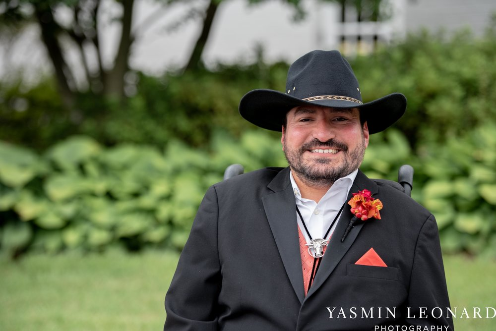 High Point Country Club - Orange and Red Wedding - Country Wedding - Cowboy Hat Wedding - Country Club Wedding - High Point NC - Yasmin Leonard Photography-8.jpg