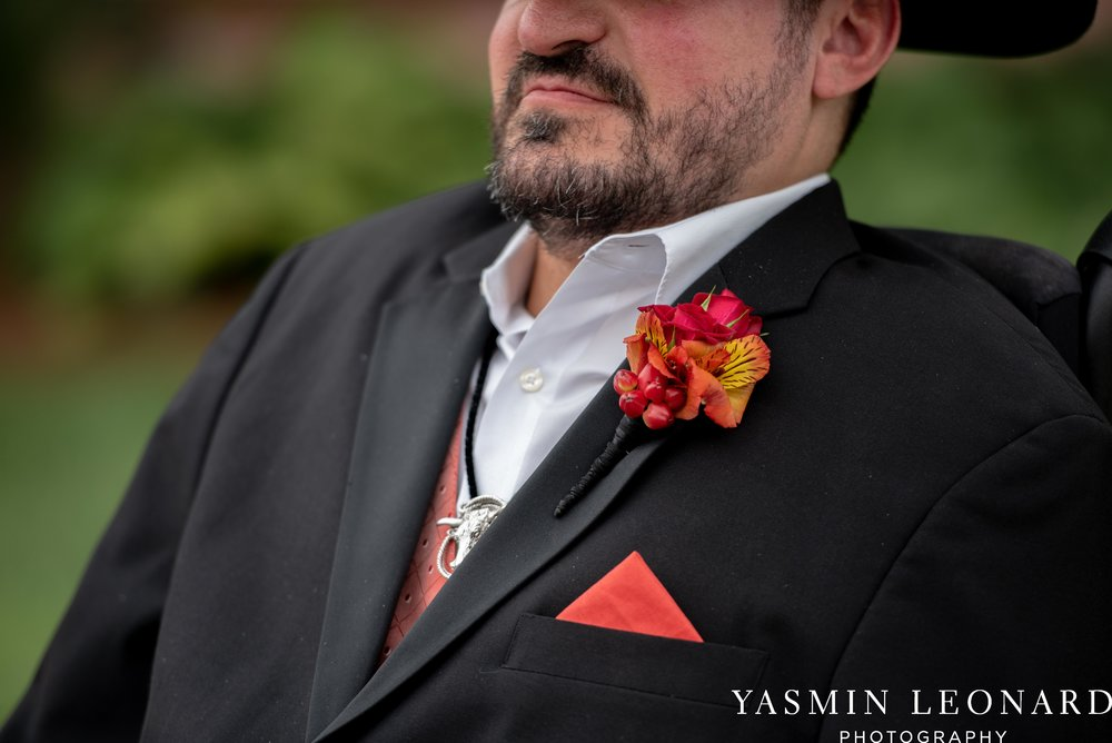 High Point Country Club - Orange and Red Wedding - Country Wedding - Cowboy Hat Wedding - Country Club Wedding - High Point NC - Yasmin Leonard Photography-10.jpg