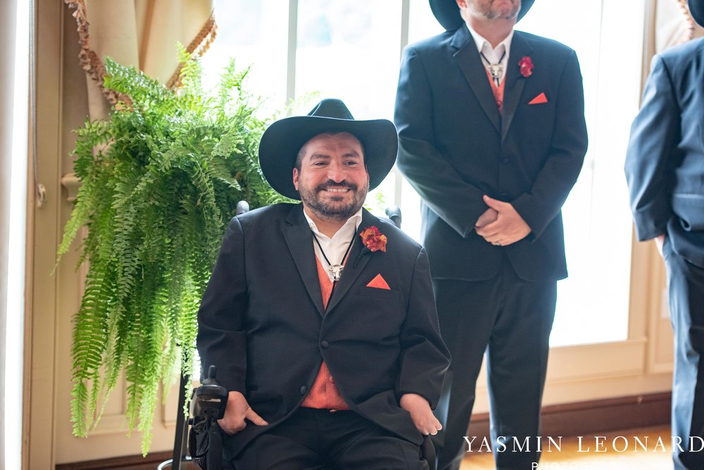 High Point Country Club - Orange and Red Wedding - Country Wedding - Cowboy Hat Wedding - Country Club Wedding - High Point NC - Yasmin Leonard Photography-13.jpg