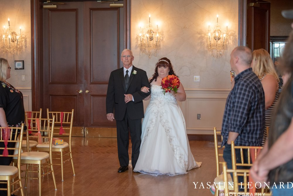 High Point Country Club - Orange and Red Wedding - Country Wedding - Cowboy Hat Wedding - Country Club Wedding - High Point NC - Yasmin Leonard Photography-14.jpg