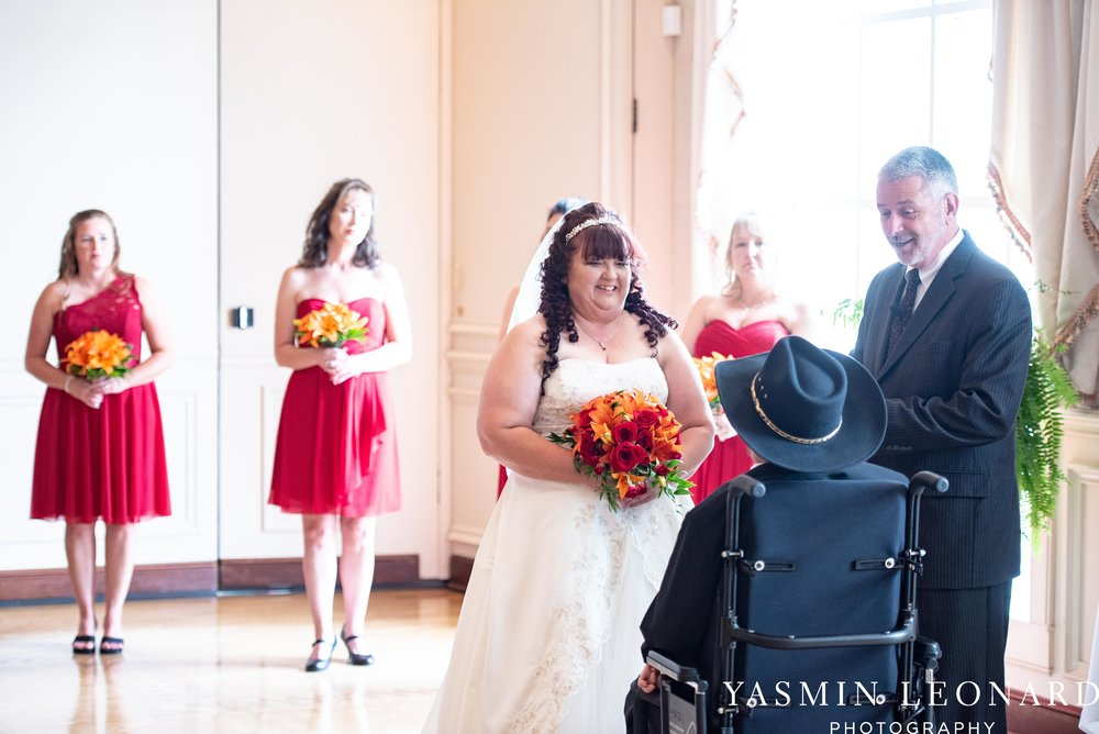 High Point Country Club - Orange and Red Wedding - Country Wedding - Cowboy Hat Wedding - Country Club Wedding - High Point NC - Yasmin Leonard Photography-19.jpg