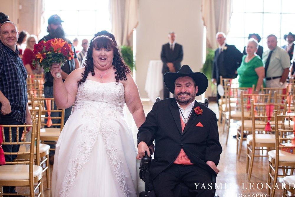 High Point Country Club - Orange and Red Wedding - Country Wedding - Cowboy Hat Wedding - Country Club Wedding - High Point NC - Yasmin Leonard Photography-23.jpg