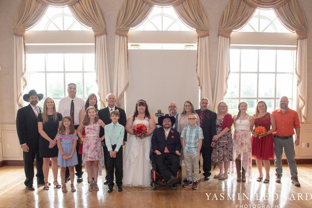 High Point Country Club - Orange and Red Wedding - Country Wedding - Cowboy Hat Wedding - Country Club Wedding - High Point NC - Yasmin Leonard Photography-24.jpg