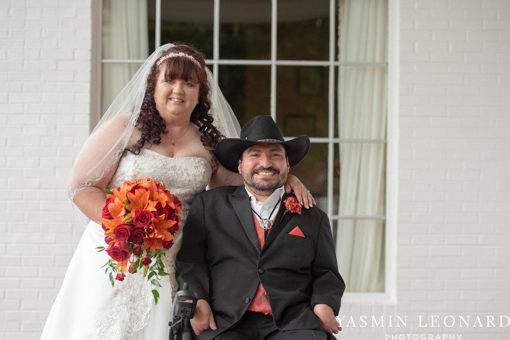 High Point Country Club - Orange and Red Wedding - Country Wedding - Cowboy Hat Wedding - Country Club Wedding - High Point NC - Yasmin Leonard Photography-26.jpg