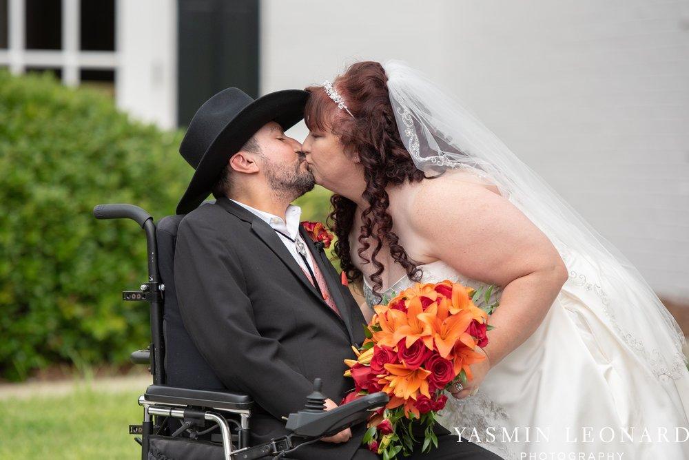 High Point Country Club - Orange and Red Wedding - Country Wedding - Cowboy Hat Wedding - Country Club Wedding - High Point NC - Yasmin Leonard Photography-28.jpg