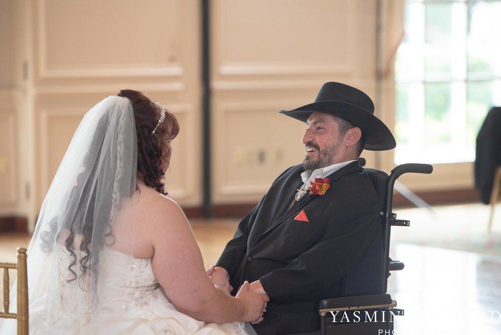 High Point Country Club - Orange and Red Wedding - Country Wedding - Cowboy Hat Wedding - Country Club Wedding - High Point NC - Yasmin Leonard Photography-44.jpg