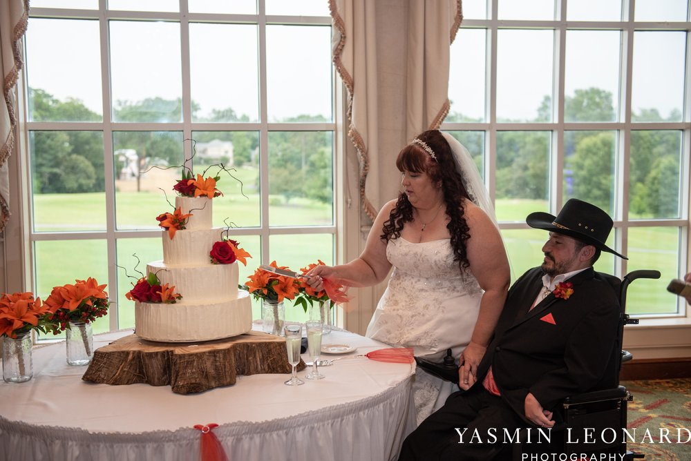 High Point Country Club - Orange and Red Wedding - Country Wedding - Cowboy Hat Wedding - Country Club Wedding - High Point NC - Yasmin Leonard Photography-48.jpg