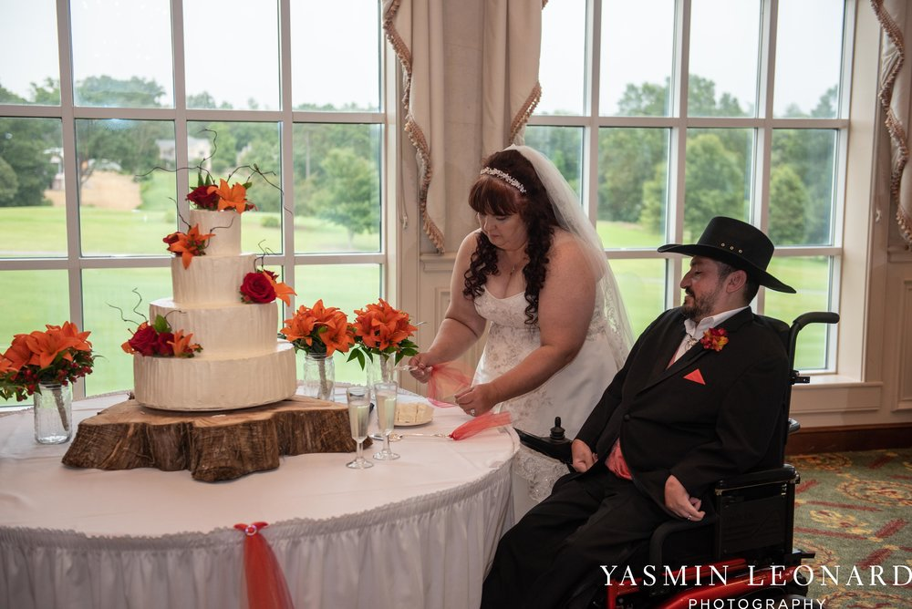 High Point Country Club - Orange and Red Wedding - Country Wedding - Cowboy Hat Wedding - Country Club Wedding - High Point NC - Yasmin Leonard Photography-49.jpg
