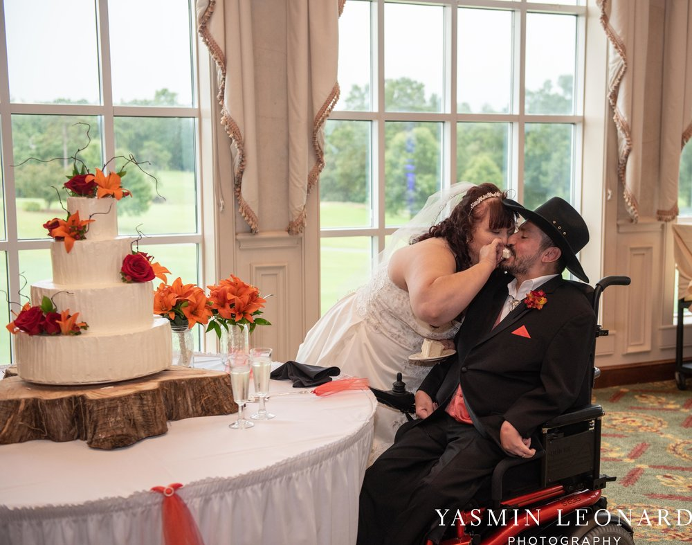 High Point Country Club - Orange and Red Wedding - Country Wedding - Cowboy Hat Wedding - Country Club Wedding - High Point NC - Yasmin Leonard Photography-50.jpg