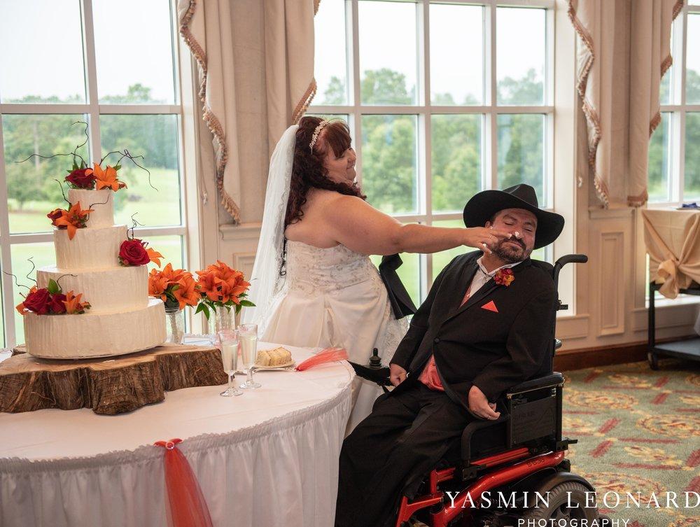 High Point Country Club - Orange and Red Wedding - Country Wedding - Cowboy Hat Wedding - Country Club Wedding - High Point NC - Yasmin Leonard Photography-51.jpg