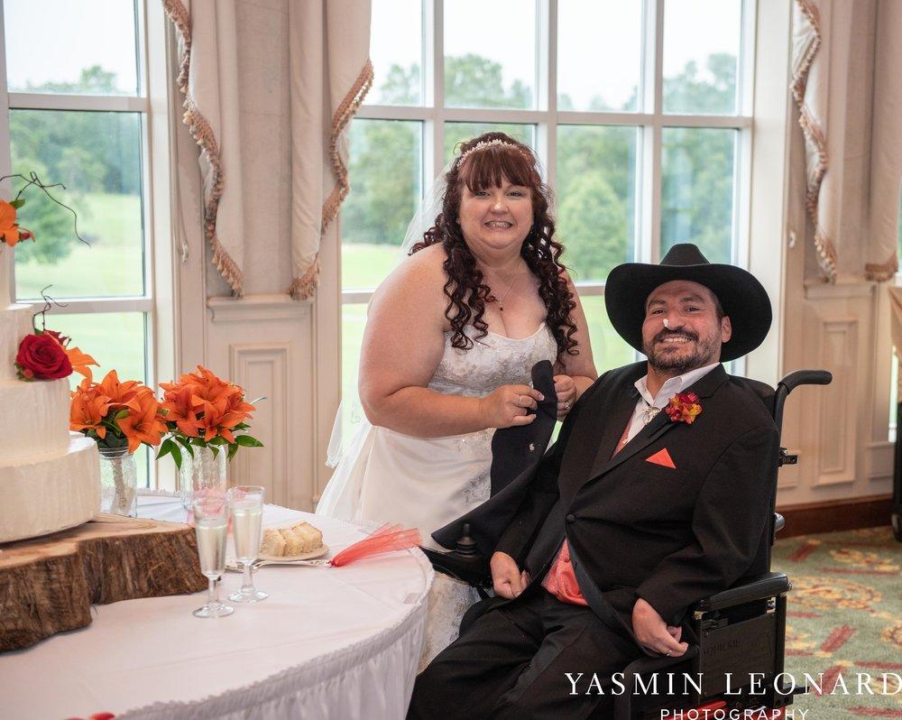 High Point Country Club - Orange and Red Wedding - Country Wedding - Cowboy Hat Wedding - Country Club Wedding - High Point NC - Yasmin Leonard Photography-52.jpg