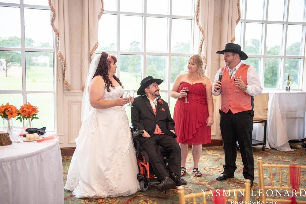 High Point Country Club - Orange and Red Wedding - Country Wedding - Cowboy Hat Wedding - Country Club Wedding - High Point NC - Yasmin Leonard Photography-53.jpg