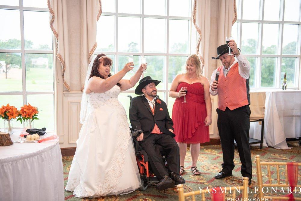High Point Country Club - Orange and Red Wedding - Country Wedding - Cowboy Hat Wedding - Country Club Wedding - High Point NC - Yasmin Leonard Photography-54.jpg
