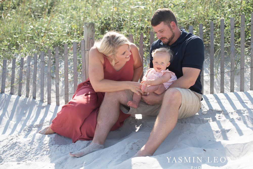 Wrightsville Beach Family Session - NC Photographer - NC Beach Photographer - NC Beach - NC Beach Photos - What to wear Beach - 6 Month Old Beach - Yasmin Leonard Photography-4.jpg