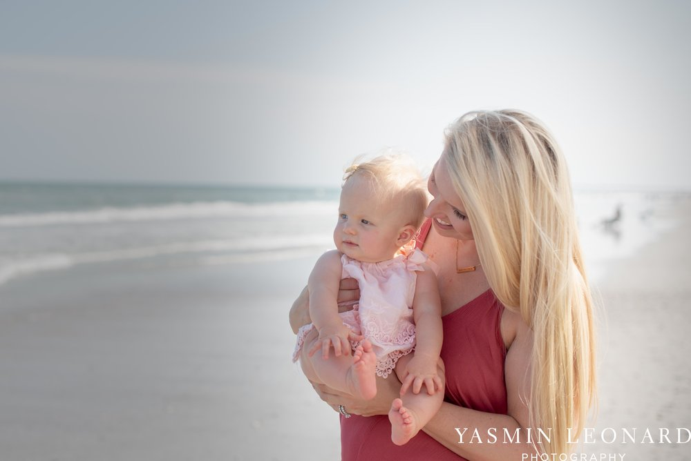 Wrightsville Beach Family Session - NC Photographer - NC Beach Photographer - NC Beach - NC Beach Photos - What to wear Beach - 6 Month Old Beach - Yasmin Leonard Photography-12.jpg