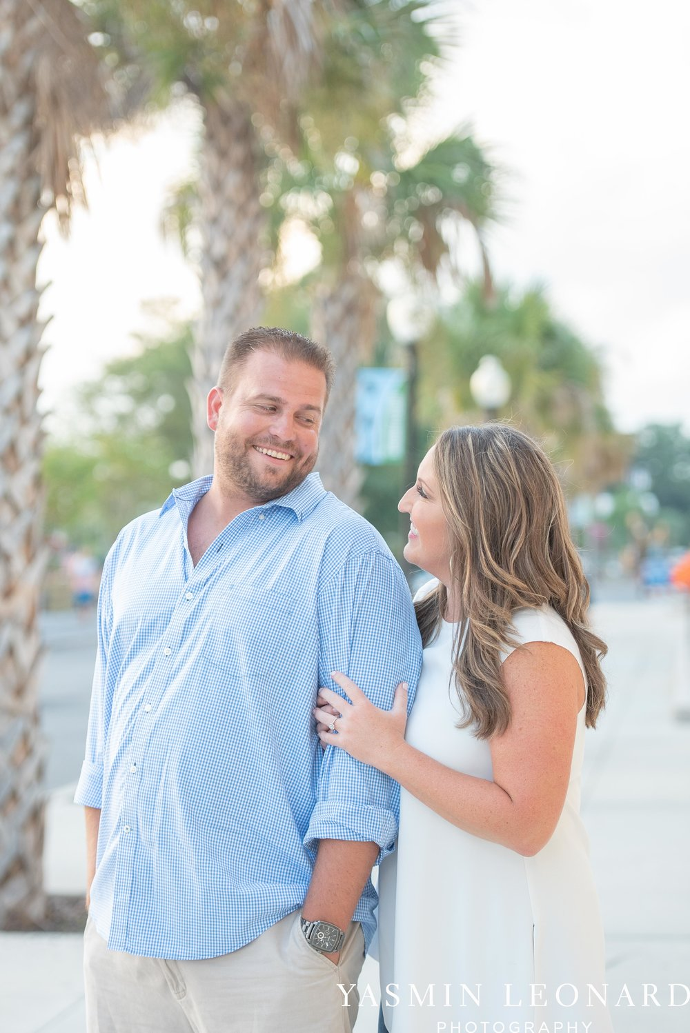 Wrightsville Beach Engagement Session - Wilmington Engagement Session - Downtown Wilmington Engagement Session - NC Weddings - Wilmington NC - Yasmin Leonard Photography-6.jpg