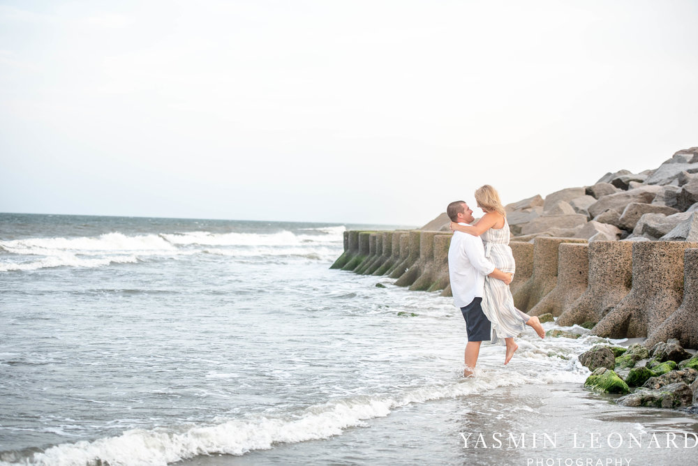 Carolina Beach Engagement Session - Kure Beach - Fort Fisher Engagement Session - Beach Engagement Session - Wrightsville Beach Weddings - Weddings on the Beach - Wilmington NC - Yasmin Leonard Photography-12.jpg