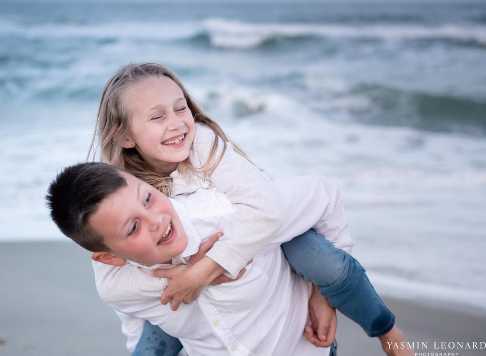Sibling Beach Pictures - Caorlina Beach Portraits - Kure Beach Portraits - Sibling Beach Pictures - Family Pictures at the Beach - Seaguls and Children - Summer Picture Ideas - Sibling Poses-10.jpg
