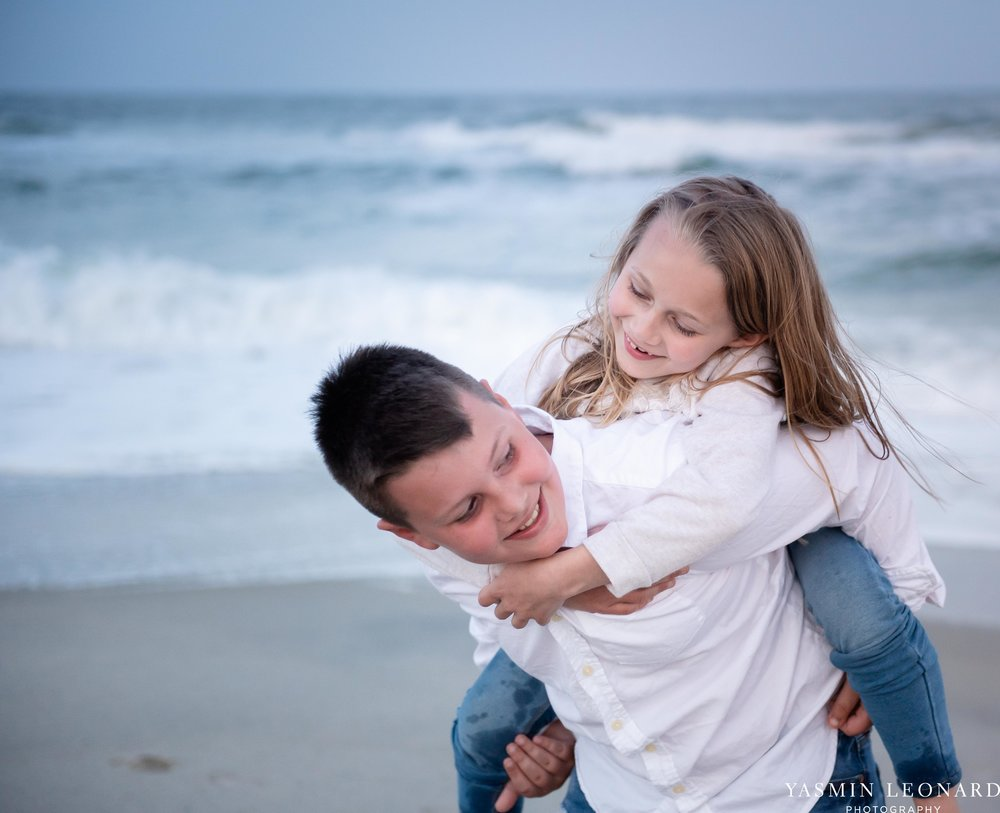 Sibling Beach Pictures - Caorlina Beach Portraits - Kure Beach Portraits - Sibling Beach Pictures - Family Pictures at the Beach - Seaguls and Children - Summer Picture Ideas - Sibling Poses-11.jpg