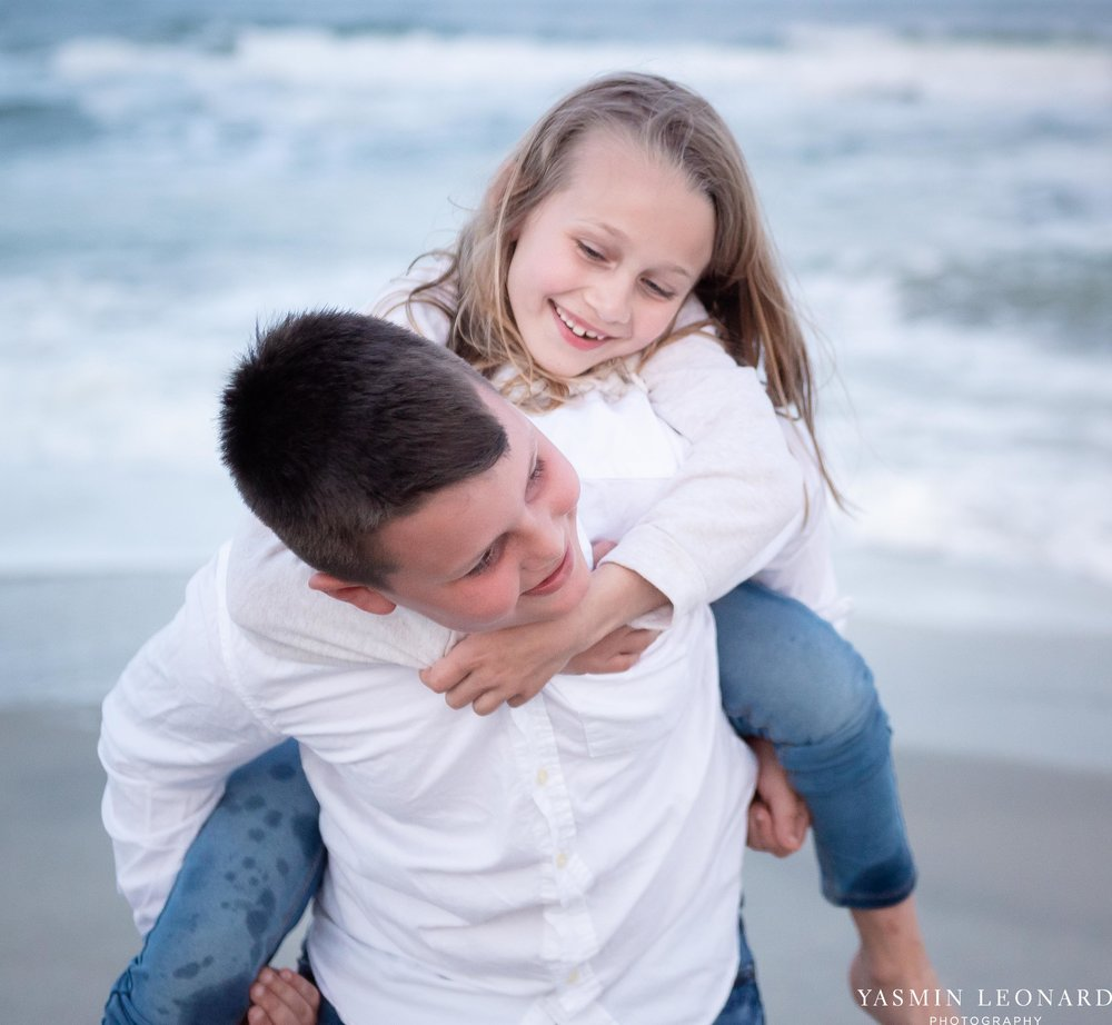 Sibling Beach Pictures - Caorlina Beach Portraits - Kure Beach Portraits - Sibling Beach Pictures - Family Pictures at the Beach - Seaguls and Children - Summer Picture Ideas - Sibling Poses-12.jpg