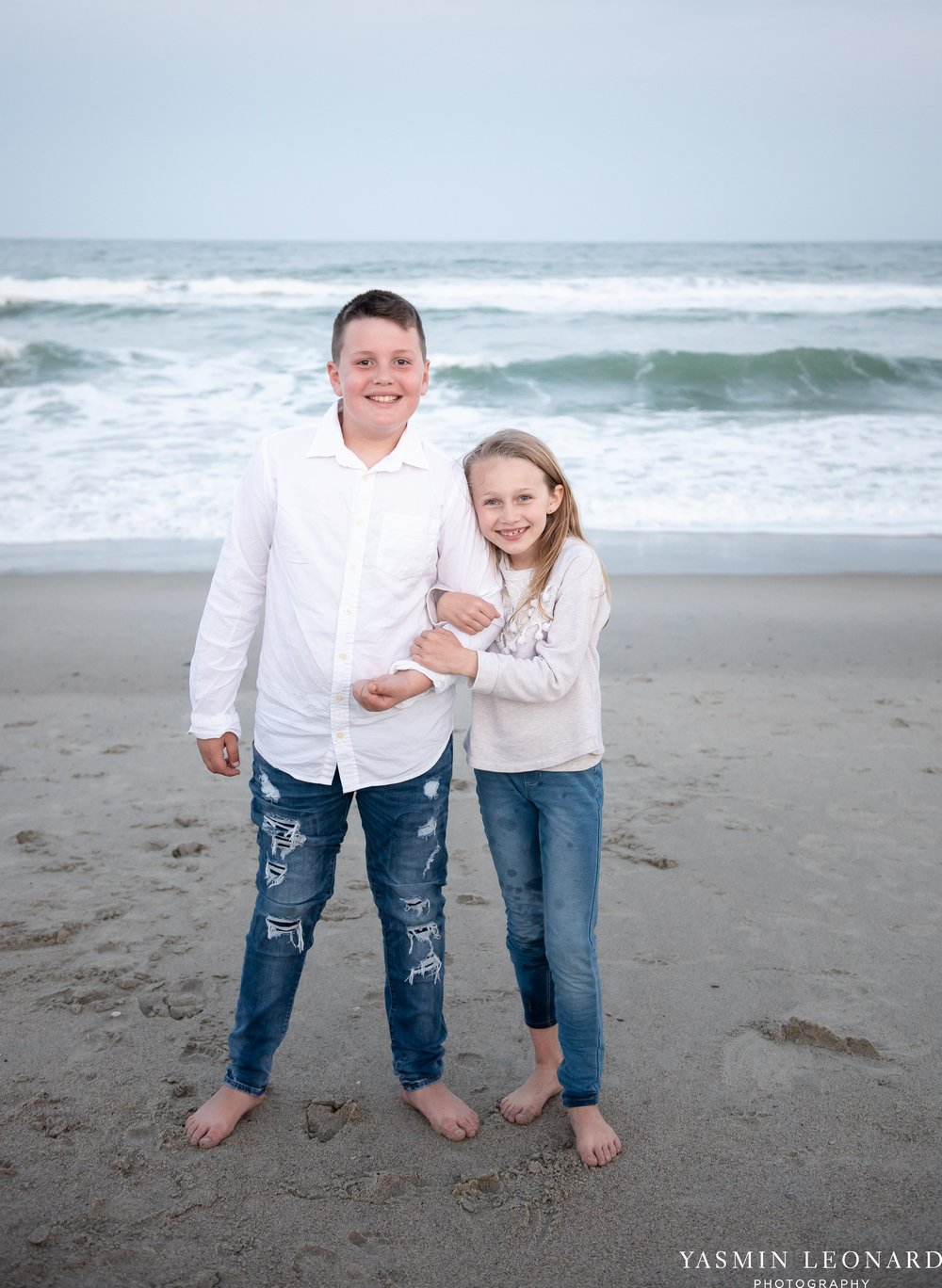 Sibling Beach Pictures - Caorlina Beach Portraits - Kure Beach Portraits - Sibling Beach Pictures - Family Pictures at the Beach - Seaguls and Children - Summer Picture Ideas - Sibling Poses-13.jpg