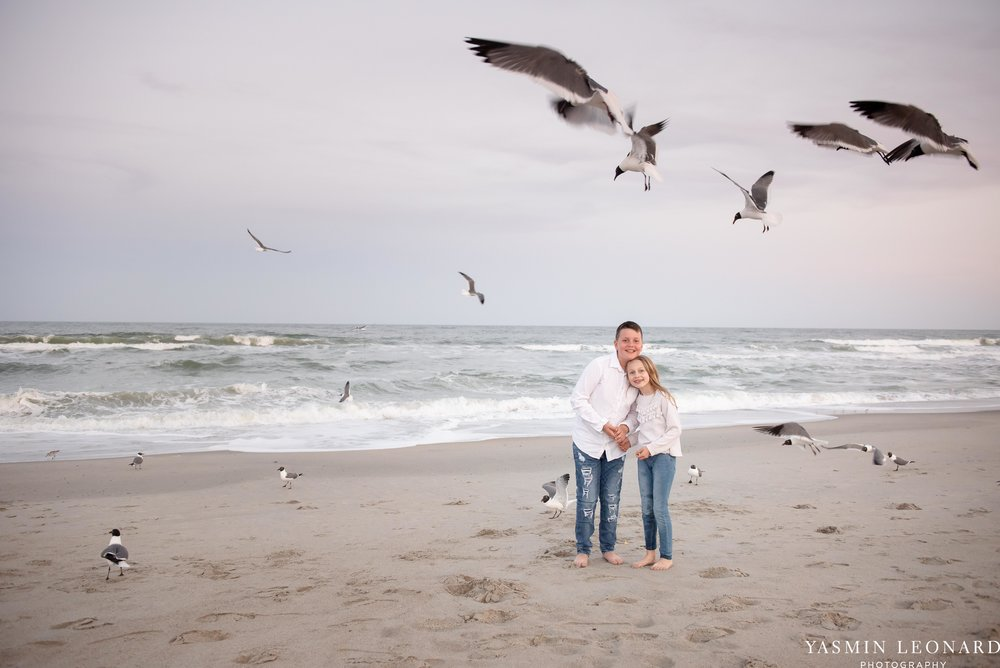 Sibling Beach Pictures - Caorlina Beach Portraits - Kure Beach Portraits - Sibling Beach Pictures - Family Pictures at the Beach - Seaguls and Children - Summer Picture Ideas - Sibling Poses-14.jpg