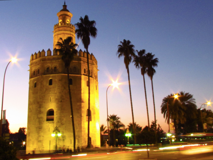 Legend has it that the gold from America was stored in this tower along the Guadalquivir River