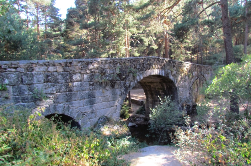 Along the picturesque trail you will find an old Roman bridge as this was once part of the road from Madrid to Segovia.