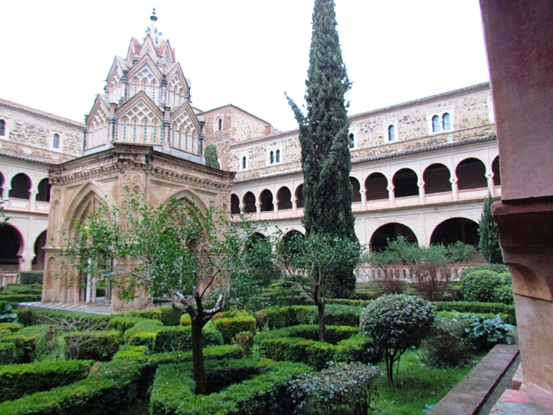 This beautiful patio is the Cloister of the Guadalupe Monastery