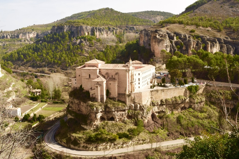 The Parador Hotel is across the ravine from the town and offers spectacular views of Cuenca from across the valley.